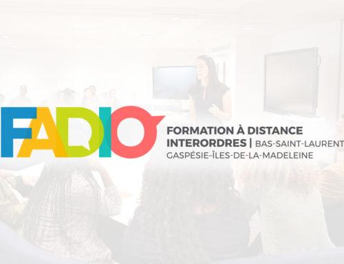 Présentation de FADIO à une délégation internationale invitée au Cégep de La Pocatière